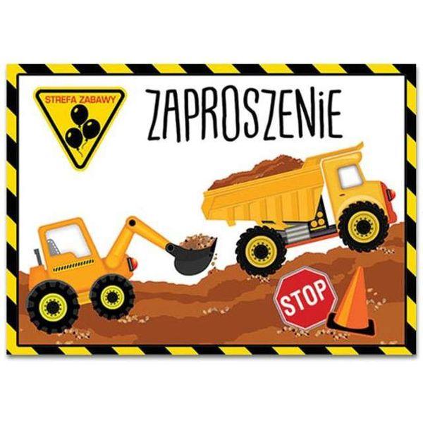 ZAPROSZENIA urodzinowe BUDOWNICZY koparka x10 na Arena.pl