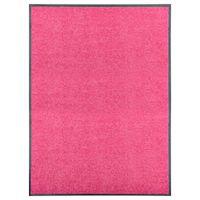 Wycieraczka z możliwością prania, różowa, 90 x 120 cm