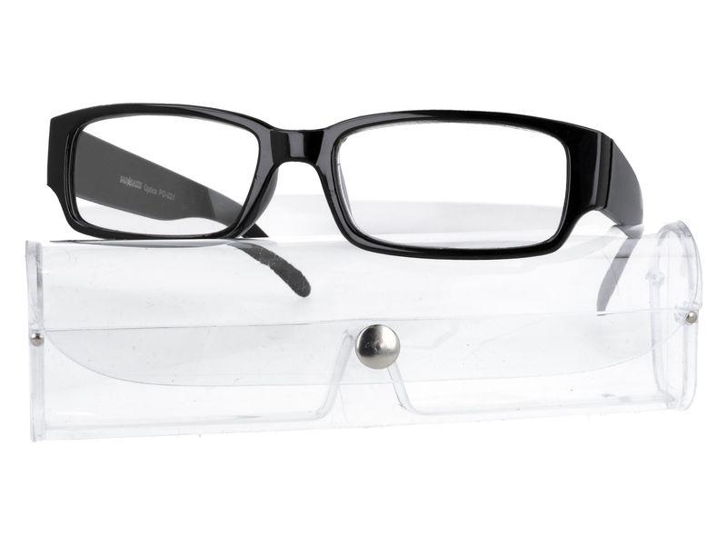 Czarne okulary zastępcze do czytania plusy +1.00 zdjęcie 6