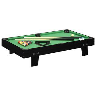 Lumarko Mini stół bilardowy na 3 nogach, 92x52x19 cm, czarno-zielony