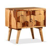 Stolik nocny z szufladą z drewna sheesham