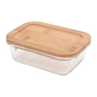 Szklany Pojemnik Na Żywność Z Pokrywą Bambusową 370Ml Excellent Houseware 120222