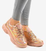 Różowe sneakersy trampki Z-9781 39