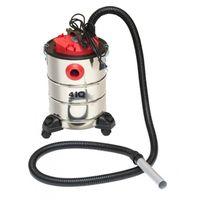 Odkurzacz do kominka 4IQ SPR000002 1200W 25L 230V elektryczny separator kominkowy wykonany ze stali szczotkowanej inox z systemem filltrów powietrza
