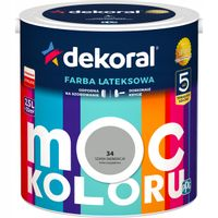 Farba lateksowa MOC KOLORU 2,5L szara eminencja