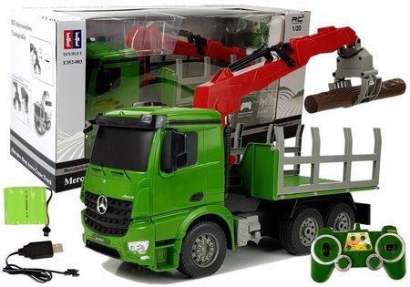 Samochód Mercedes-Benz Arocs 1:20 Zdalnie Sterowany Ciężarówka Dźwig Do Przewozu Drewna 2.4G
