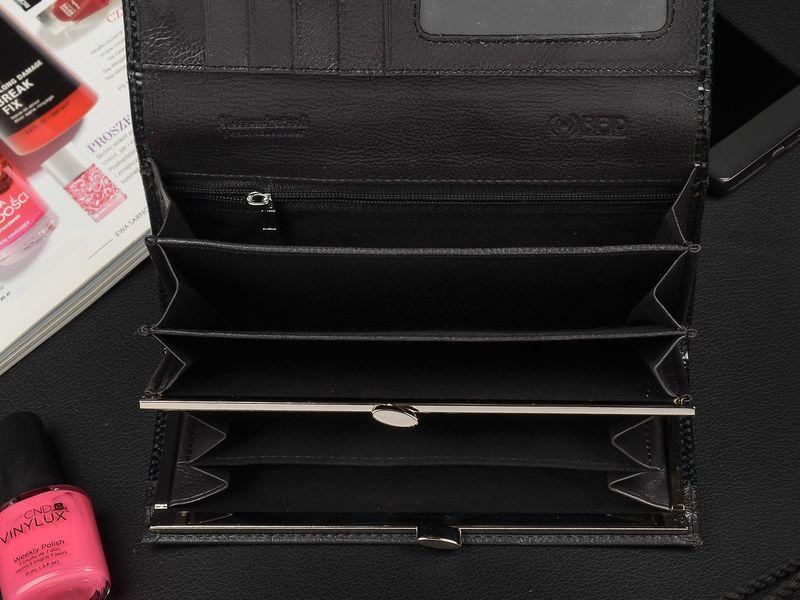 Duży Damski Skórzany Portfel A.Paoli romby RFID Q35 zdjęcie 4