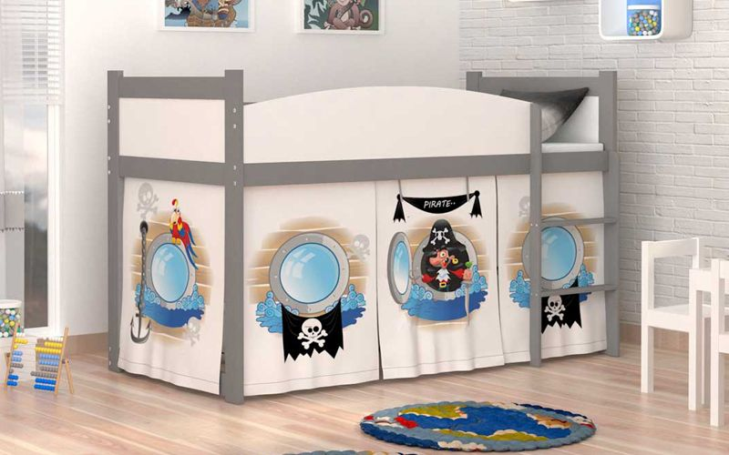Łóżko piętrowe TWIST ANTRESOLA 190x86 + materac zdjęcie 1
