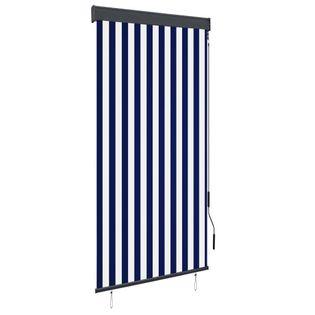 Roleta zewnętrzna, 100x250 cm, niebiesko-biała