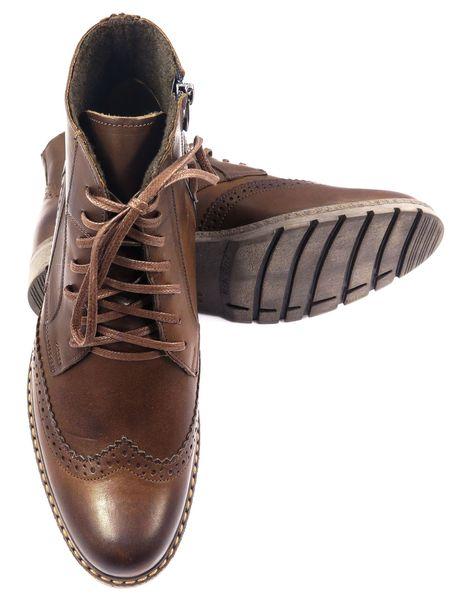 eed94fa9c779f Skórzane brązowe buty męskie zimowe T79 Rozmiar Obuwia - 45 • Arena.pl