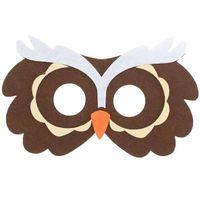 filcowa MASKA brązowa SOWA sowy SÓWKA dla dzieci