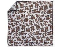 Beżowa jedwabna poszetka w brązowy paisley EJ2