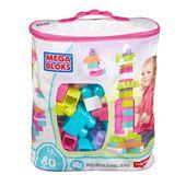Mega Bloks - Klocki 80 elementów torba różowa DCH62