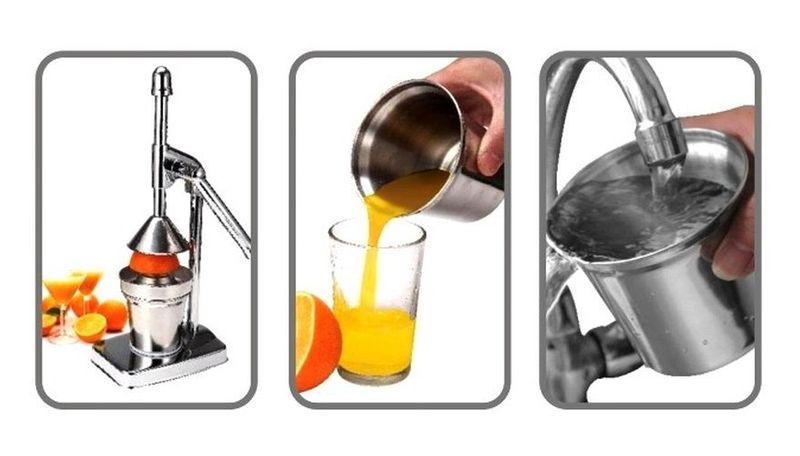 Masywnie Ręczna wyciskarka do soku, 250 ml, stal nierdzewna SAPIR SP-1161-B EE59