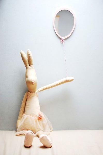 Lusterko do pokoju dziecięcego - Balonik Color - Off White, Kolor - różowy na Arena.pl