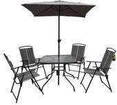 Meble Ogrodowe Miami Stół 4 Krzesła + Parasol