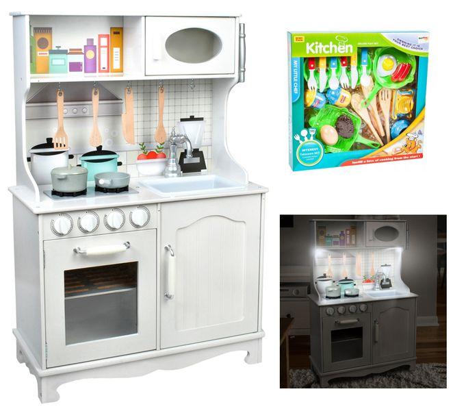 Kuchnia Drewniana Dla Dzieci Oświetlenie Led Z371z