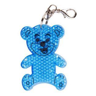 Brelok odblaskowy Teddy, niebieski