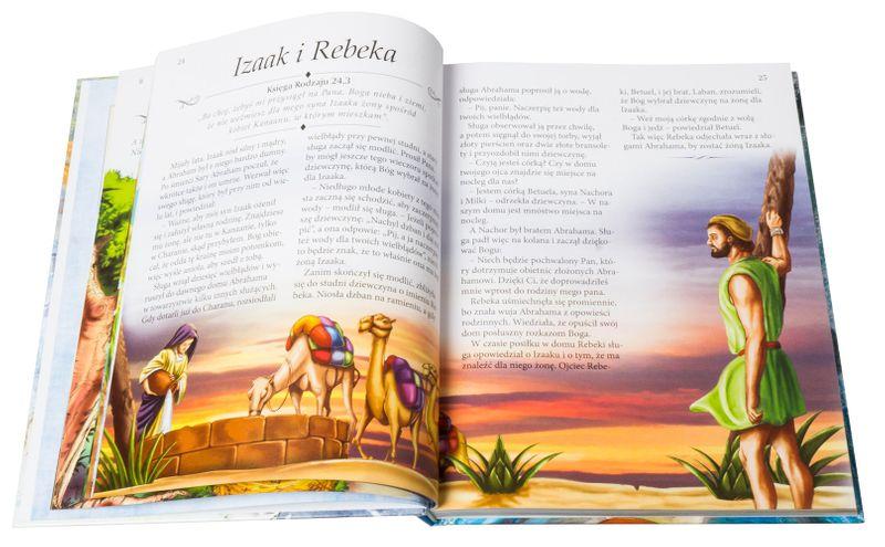 ILUSTROWANA BIBLIA DLA DZIECI z grawerem PREZENT NA CHRZEST KOMUNIĘ zdjęcie 5