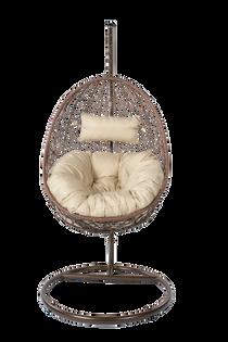 Fotel wiszący ze stojakiem czekoladowy Bozzollo