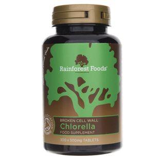 Rainforest Foods Chlorella BIO 500 mg - 300 tabletek