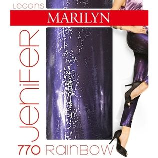 Leginsy JENNIFER RAINBOW 770 Violet Rozmiar - M/L, Kolor - Fioletowy