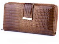 Jennifer Jones portfel Skórzany damski Duży Lakierowany na suwak E72