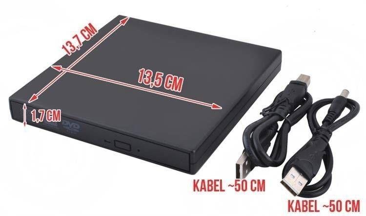 Zewnętrzny napęd CD-R/RW/DVD-ROM USB nagrywarka CD zdjęcie 8