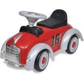 Czerwony samochód-jeździk retro z drążkiem do pchania zdjęcie 4
