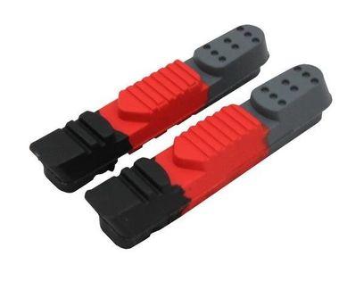 Wkładki hamulcowe CLARK'S CPS220 SZOSA (Shimano, Sram, Tektro, Warunki Suche i Mokre) 55mm czarno-czerwono-szare