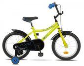 """Rower dziecięcy PUZZEL 16"""" żółto-niebieski - r. 16"""""""