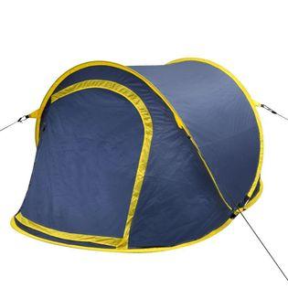 Samorozkładający Się Namiot 2 Osobowy Niebiesko Żółty