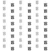 Dekoracja wisząca na 18 urodziny 6szt czarno srebr zdjęcie 1