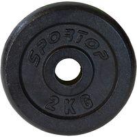 Obciążenie Żeliwne Czarne 2 Kg Sportop Fi26