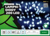 Sznur świetlny 20 m • 200 LED • zewnętrzne oświetlenie • możliwość łączenia • zewnętrzne lampki choinkowe NR 1759 Zimny biały