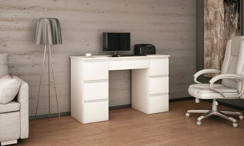 biurko MEGAN B3 BIAŁE praktyczne szkolne dla dziecka do szkoły na Arena.pl