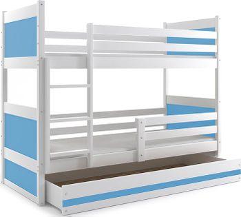 Łóżko piętrowe dziecięce RICO meble dla dzieci 200x90 + SZUFLADA
