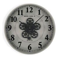 Zegar Ścienny Metal Drewno MDF/Szkło (6,5 x 50 x 50 cm)