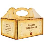 pudełko ciasto SŁODKIE PODZIĘKOWANIE vintage retro zdjęcie 1