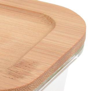Szklany Pojemnik Na Żywność Z Pokrywą Bambusową 1040Ml Excellent Houseware 120224