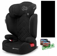 Kinderkraft Xpand fotelik ISOFIX 15-36 kg kolor BLACK GRATIS zasłonki