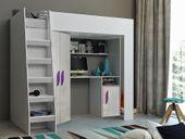 Łóżko piętrowe FIGO antresola szafki zestaw RIBES zdjęcie 6