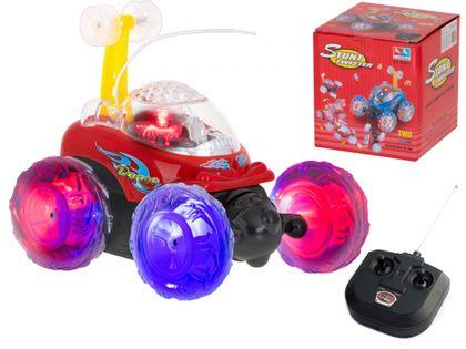 Samochód Rc Mini Racer Tumbler Stunt Czerwony