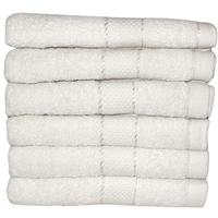 Komplet ręczników kąpielowych 50x100 cm 6szt. (wzór: gładki; kolor: biały)