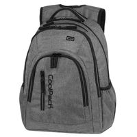 Dwukomorowy plecak szkolny CoolPack Mercator Plus 31 l, Snow Grey A311