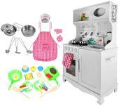 Drewniana Kuchnia Dla Dzieci Światła Dźwięki Granki Akcesoria Z371Z zdjęcie 4