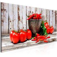 Obraz - Czerwone warzywa (1-częściowy) drewno wąski