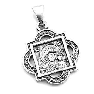 Medalik srebrny prawosławny