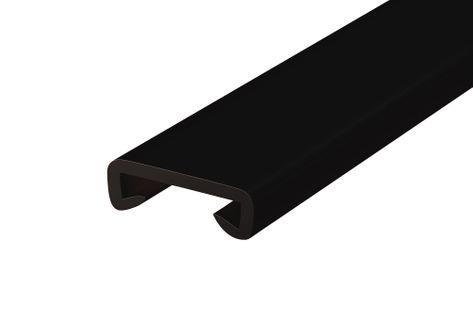 Listwa poręczowa PCV STANDARD, poręczówka 40x8 mm  czarny 1mb