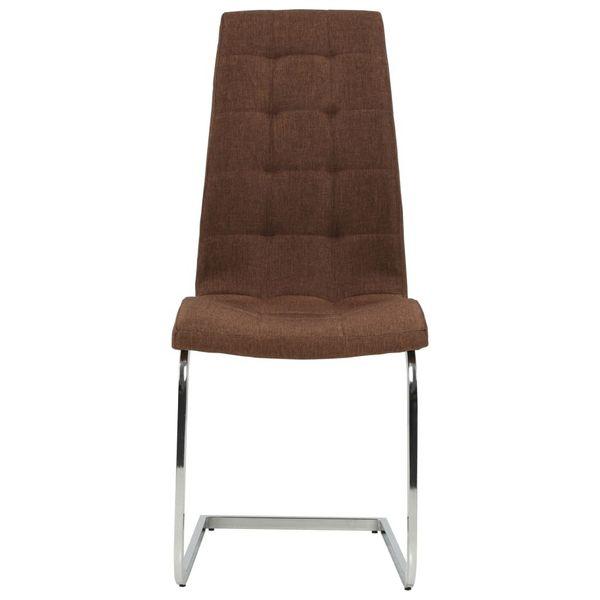 Krzesła Stołowe, 2 Szt., Brązowe, Tkanina zdjęcie 2